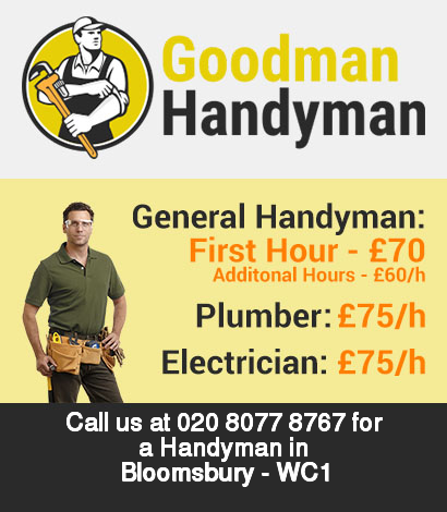 Local handyman rates for Bloomsbury