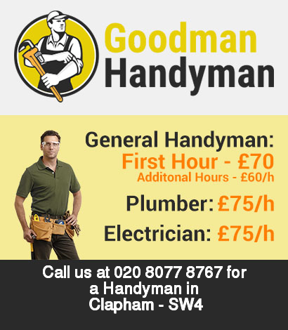 Local handyman rates for Clapham