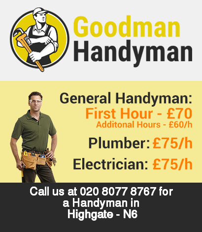 Local handyman rates for Highgate